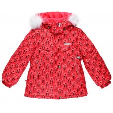 16320K – 1860 куртка Красно-розовое плетение